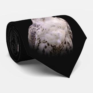 Porträt eines neugierigen Saker Falken Personalisierte Krawatten