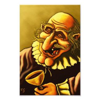 Porträt-Fotodruck des fröhlichen Mannes lustiger