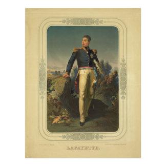 Porträt französischen Des Lafayette Generals Marqu Kunst Photo
