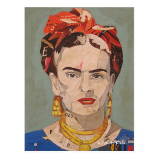 Porträt Frida Kahloen Coyoacán Postkarte