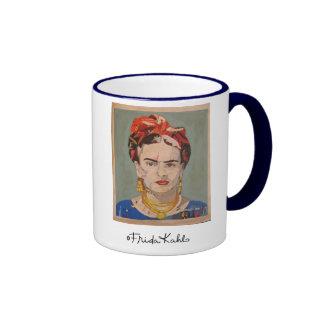 Porträt Frida Kahloen Coyoacán Kaffeetassen