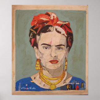 Porträt Frida Kahloen Coyoacán Poster