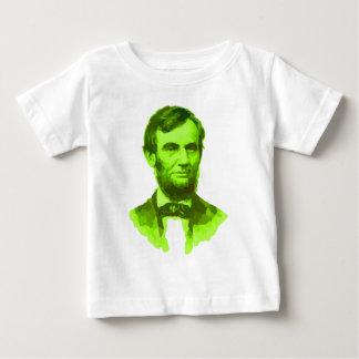 Porträt-Grün-Gesicht Präsidenten-Abraham Lincoln Baby T-shirt