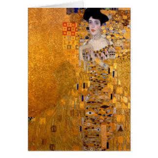 """Porträt Gustav Klimt """"Adele"""" Vintag Karte"""
