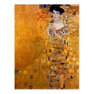 "Porträt Gustav Klimt ""Adele"" Vintag Postkarte"