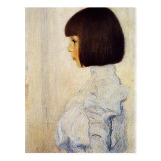 Porträt Gustav Klimt von Postkarte Helene Klimt