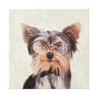 Porträt Herrn Yorkshire Terrier Leinwanddruck