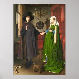 Porträt Jan van Eycks Arnolfini Poster