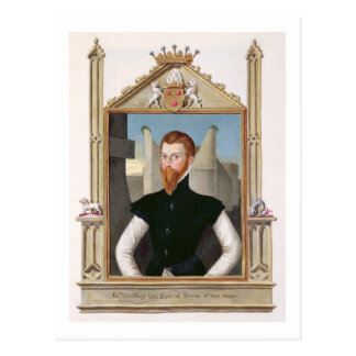 Porträt letzten Grafen Edward Courtenay Postkarte