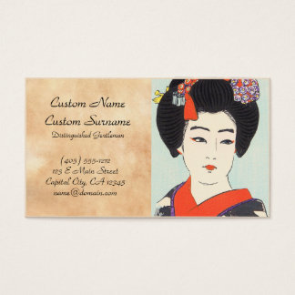 Porträt Maiko Shunsen Natori der Japaner-schöner Visitenkarte
