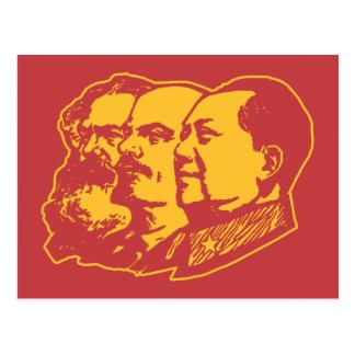 Porträt Marx Lenin Mao Postkarte