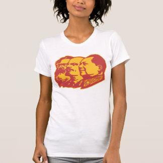 Porträt Marx Lenin Mao T-Shirt