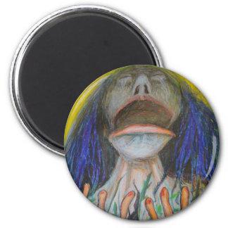 Porträt mit Eidechsen Runder Magnet 5,1 Cm