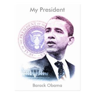Porträt Präsidenten-Barack Obama Postkarte