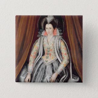 Porträt sagte, Susan, Dame Grey zu sein Quadratischer Button 5,1 Cm