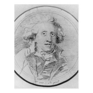 Porträt setzte voraus, Jean-Honore Fragonard zu Postkarte