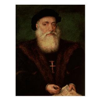 Porträt setzte voraus, von Vasco da Gama c.1524 zu Postkarte