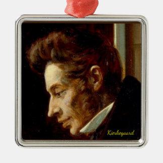 Porträt Soren Kierkegaard Weihnachtsverzierung Silbernes Ornament