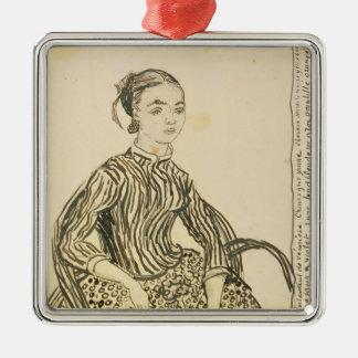 Porträt Vincent van Goghs   eines jungen Mädchens, Quadratisches Silberfarbenes Ornament