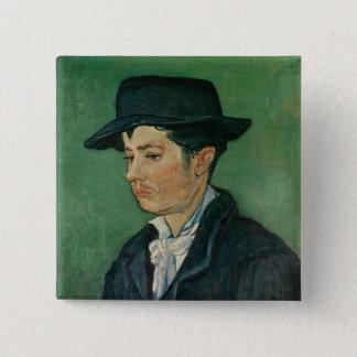 Porträt Vincent van Goghs | von Armand Roulin, Quadratischer Button 5,1 Cm
