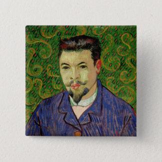 Porträt Vincent van Goghs | von Dr. Felix Rey, Quadratischer Button 5,1 Cm