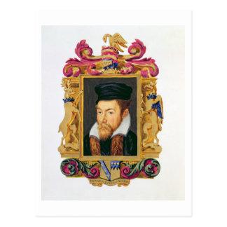 Porträt von (1508-72) 3. Grafen Edward Stanley D Postkarte
