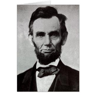 Porträt von Abe Lincoln 2 Grußkarte