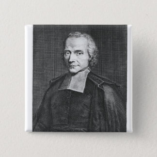 Porträt von Adrien Baillet Quadratischer Button 5,1 Cm