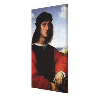 Porträt von Agnolo Doni durch RAPHAEL Sanzio Leinwanddruck