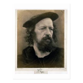 Porträt von Alfred, Lord Tennyson (1809-92) Postkarte