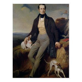 Porträt von Alphonse de Lamartine 1830 Postkarte
