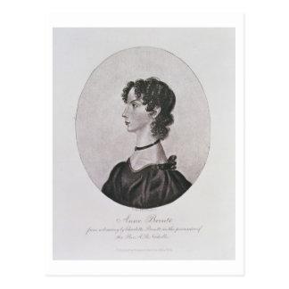 Porträt von Anne Bronte (1820-49) von einem Postkarte