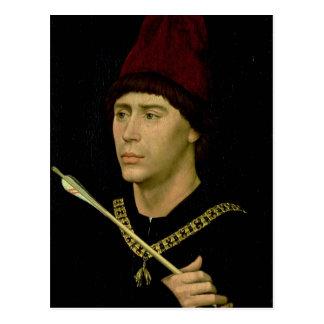 Porträt von Antoine-bastard von Burgunder Postkarte