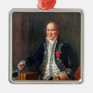 Porträt von Antoine Francois de Fourcroy Quadratisches Silberfarbenes Ornament