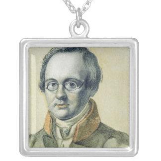 Porträt von Anton A. Delvig, 1830 Versilberte Kette