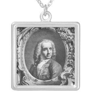 Porträt von Antonio Canaletto Versilberte Kette