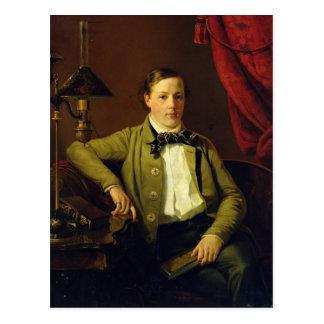 Porträt von Apollon Maykov, 1840 Postkarte