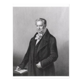 Porträt von Baron Alexander von Humboldt Postkarte