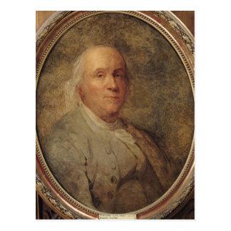 Porträt von Benjamin Franklin, c.1780 Postkarte