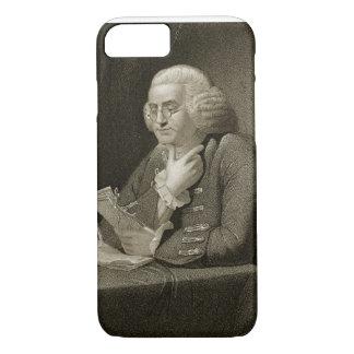Porträt von Benjamin Franklin, graviert von Thomas iPhone 8/7 Hülle