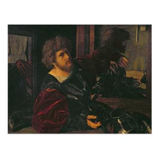 Porträt von Bernardo di Salla Postkarte