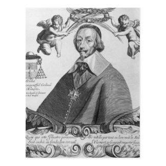 Porträt von Cardinal de Richelieu Postkarte