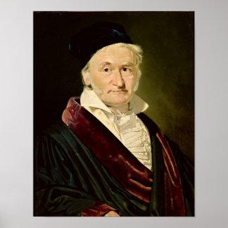 Porträt von Carl Friedrich Gauß, 1840 Poster