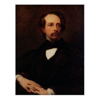 Porträt von Charles Dickens 1855 Postkarte