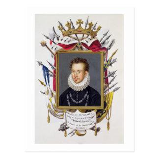 Porträt von Charles IX von Frankreich (1550-74) Postkarte