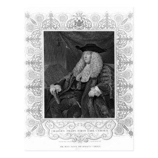 Porträt von Charles Pratt, 1. Graf Camden Postkarte