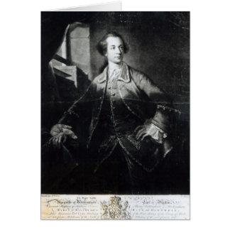 Porträt von Charles Watson-Wentworth Karte