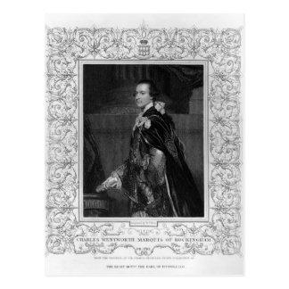 Porträt von Charles Wentworth Postkarte