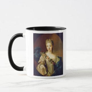 Porträt von Charlotte Aglae von Orleans, 1720s Tasse