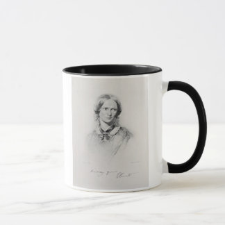 Porträt von Charlotte Bronte, graviert von Tasse